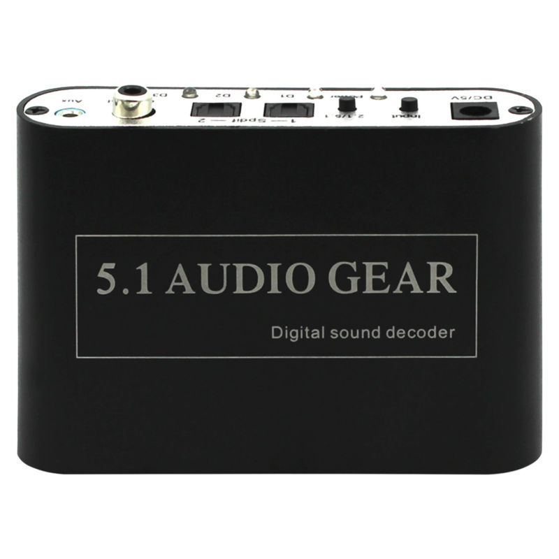 2 PCS 2015 New Digital Audio Decoder 5.1 Audio Gear DTS/AC-3/6CH Digital Audio converter LPCM To 5.1 Analog Output 2.1 DVD PC<br>