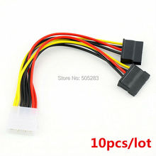 10pcs Serial ATA SATA 4 Pin IDE Molex to 15 Pin HDD Power Adapter Cable Hard Drive Adapter HY416*10