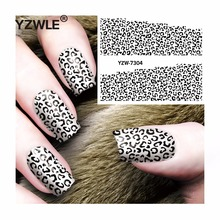 YZWLE 1 Sheet DIY Decals Nails Art Water Transfer Printing Stickers Accessories For Manicure Salon  YZW-7304