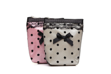 New Designed Cosmetic Cases small size Casual Female Lace Dot Makeup Cases Hot selling mini cosmetic bag(China)