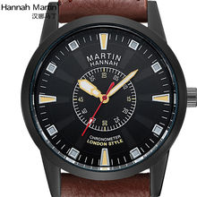 England Struck Luxury Brand Hannah Martin HM Watches Men Fashion Business Dress Leather Three anti-watch Waterproof Gift XF1031