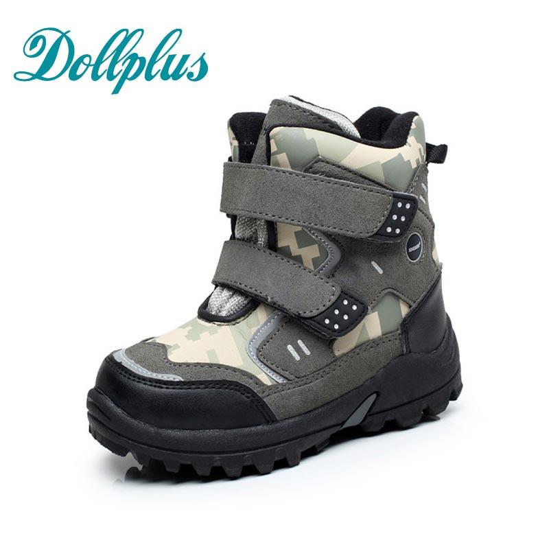 2017 Winter Fashion Waterproof Non-Slip Kids Snow Boots Children Winter Warm Shoe Boys Boots Outdoor Warm Cotton Botas<br>