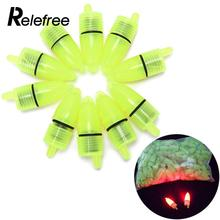 Relefree 10Pcs Fishing Rod Tip LED Light Bells Alarm Clip Clamp Night Fish Bite Ring Tool(China)