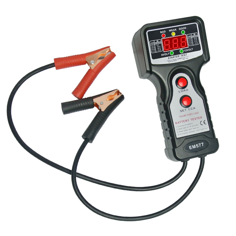 Digital Car Automative Vehicular Auto Battery Tester Checker Analyzer with 6V and 12V Voltage Indicator<br>