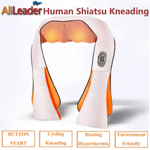 Best Gift For Parents Infrared Heating Heating Massage Pillow Electric Massage Therapy 4D Shiatsu Shoulder Neck Back Massager(China)