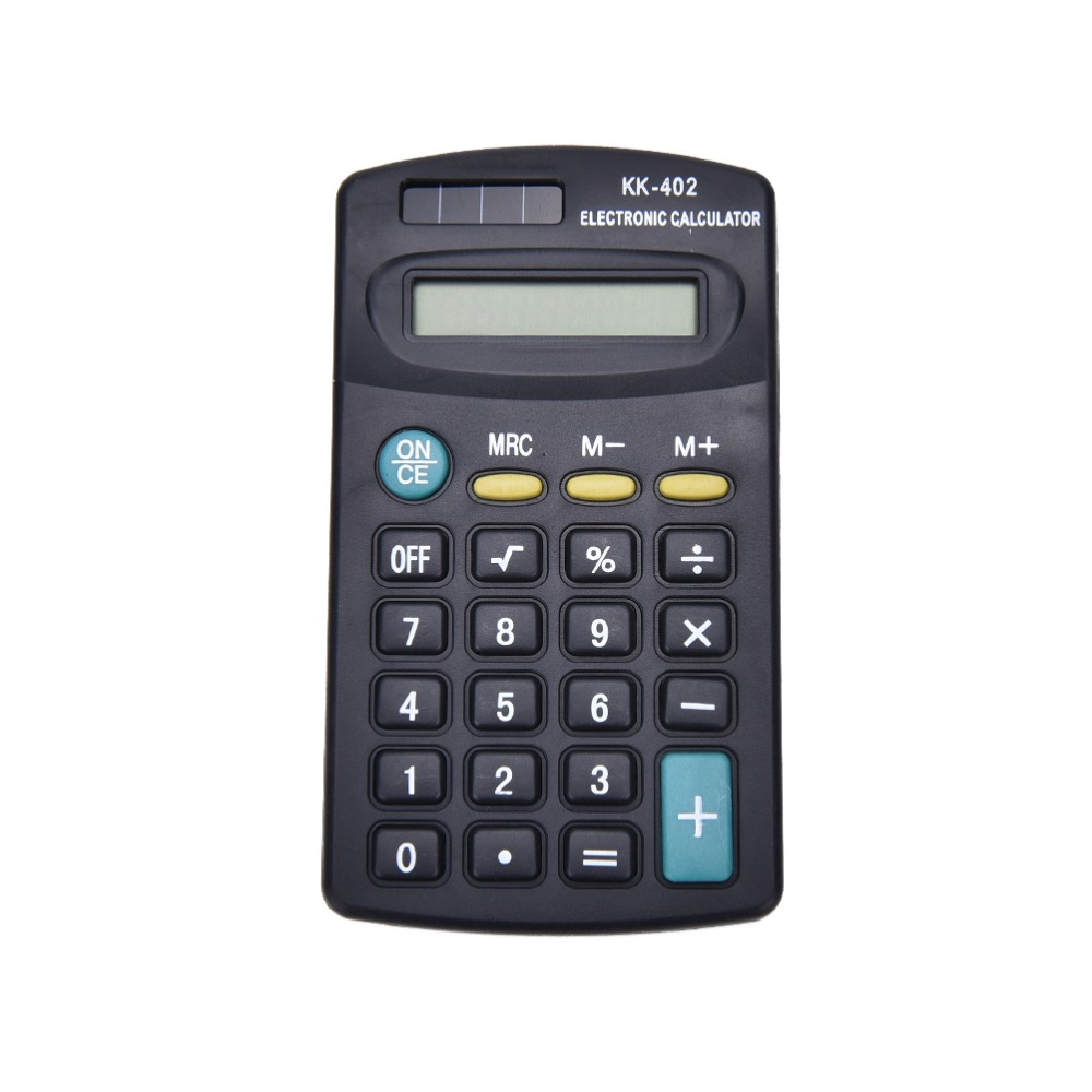 New 1PC Desktop General Purpose Black 8 Digit Calculator For Office Working Shipping No Battery