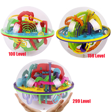 Large 100/158/299 Levels 3D Maze Ball Intellect Magical Ball Children's Learning Educational Toys Baby Puzzle Toy Orbit Game