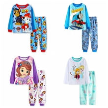 Boys girls Thomas pajamas sets Sofia Princess pyjamas kids pijama infantil sleepwear home clothing cartoon cotton Baby pijama