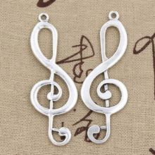 Buy 4pcs Charms musical note 60*21mm Antique Making pendant fit,Vintage Tibetan Silver,DIY bracelet necklace for $1.00 in AliExpress store