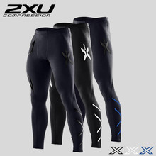 2XU Men's Elite Compression Tights Pants Brand Clothing Trousers Mens High Elastic Sweatpants Suitable For Indoor And Joggers