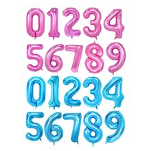 40 inch Number 0-9 Foil Balloons Gold Silver Pink Blue Digit helium Balloon Kids Birthday Party Banner Wedding Decor Ballon