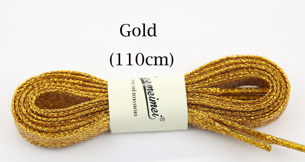 Shoes Shop For Cheap 3pairs Metallic Gold Thread Shoelaces Round Rope Laces For Outdoor Climbing Casual Trainer Laces Sport Golden Silver Black 110cm Beautiful And Charming