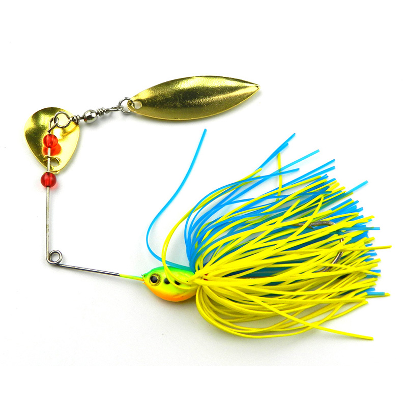 1Pcs Metal lure wobblers sinking Fishing Lure Spinnerbait 17g Colorado Willow Blades Flash Chartreuse YE-47<br><br>Aliexpress
