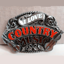 country music Buckle Retail Wholesale company IrishTraditional Music Buckles unique cool fit 4cm Wide Belt Jeans accessories(China)
