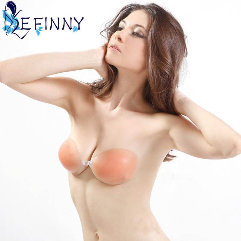 Sexy Strapless Backless Invisible Adhesive Silicone Gel Bra Breast Pad Cup A-D Newest 5