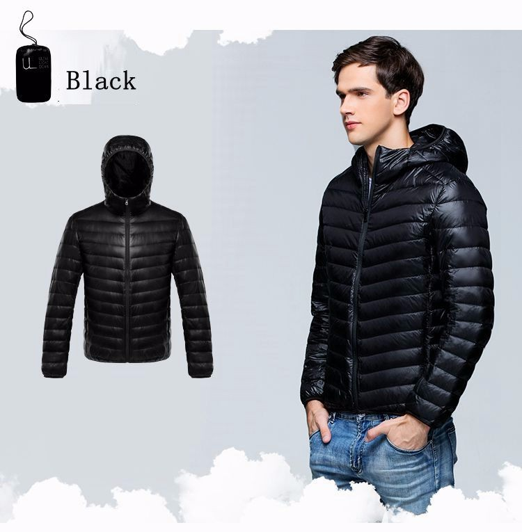 Autumn Winter man Duck Down Jacket Ultra Light Thin Plus Size Spring Jackets Men Stand Collar Outerwear Coat