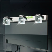 New Modern LED Crystal Light Bathroom Mirror Front Lamp design wall sconce Cool white/ Warm white AC85-265V(China)