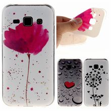 Buy Fashion Heart Rain Red Flower Pattern IMD TPU Soft Phone Back Cover Case Samsung Galaxy J1 SM-J100F J100FN J100H J100M for $1.35 in AliExpress store