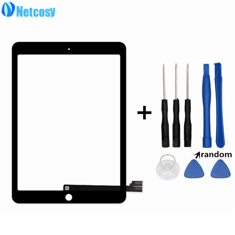 Netcosy For ipad pro 9.7 Black / White Touch screen digitizer glass panel repair For ipad pro 9.7 Tablet touch panel &amp; tools<br>