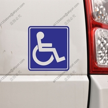 Pick color size Handicapped Disabled Wheelchair Sign Square Car Truck Decal Sticker Vinyl Die cut free shipping