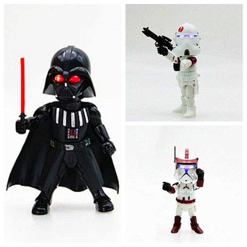 Star Wars Stormtrooper Darth Vader PVC Action Figure with LED Light Collectible Model Toy 14cm 4 Styles Retail Box WU490<br><br>Aliexpress