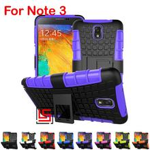 Cheap Best Armor Rugged Hybrid Hard PC TPU ShockProof Phone Mobile Case Cover Cove Bag For Samsung Galaxy Note 3 Red Blue Black(China)