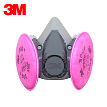 3M 6200+2091 Safety Protective Respirator Half Face Mask Dust Respirator Mask P100 Standard Respiratory Protection L0502(China)