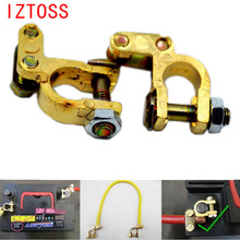 IZTOSS 2016 New 2Pcs/set Good Auto Car Battery Terminal Clamp Clips Connector Car Replacement Accessories High Quality