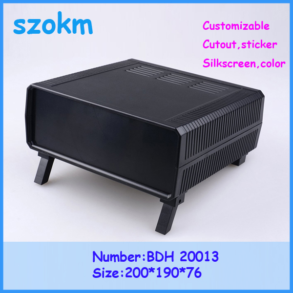 1 piece Free shipping  electronic box desk top plastic box  plastic case electronic case 200x190x76 mm<br>