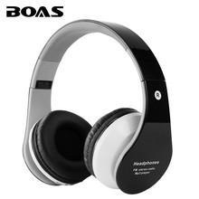 BOAS bluetooth wireless headphones support TF card FM radio handfree handset with microphone foldable earphone for iphone xiaomi