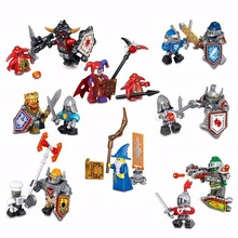 8pcs/lot NEW Nexo Knights Future Shield Building Blocks Castle Warrior Nexus mini hero figures Kids Toys Gift Compatible bricks