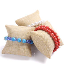 bracelet display pillow bangle stand fashion watch stand holder jade bracelets holder linen jewelry display tools factory price