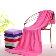 1Pc Bath Towel Luxury Large Size Beach Towel Microfiber Soft Durable Absorbent Towels Washcloth Bathroom Adults 140x70cm Rose