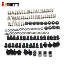 KEMiMOTO For Kawasaki Ninja ZX6R Motorcycle Fairing Bolt Screw Fastener Nut Washer For Kawasaki 2005 2006 Ninja ZX-6R 2005 2006(China)