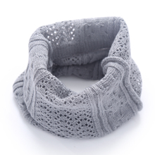 Brand new Fashion Winter Scarf For Women Solid Color knitting Wool Collar Scarves General Kids Girls Neck Scarf Cotton Unisex(China)
