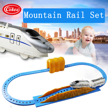 flashing musical electronic railcar set scale model car diecast railway toy vehicle educational mini car toy model DIY train set(China)