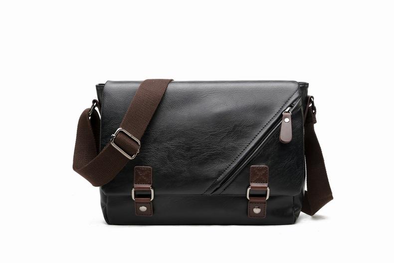 MJ Men\`s Bags Vintage PU Leather Male Messenger Bag High Quality Leather Crossbody Flap Bag Versatile Shoulder Handbag for Men (4)
