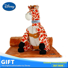 Disney Giraffe Plush Stuffed Toys Pillow Cushion Including Portable Coral Fleece 112*87cm Blanket Toy Children Gift Brinqued