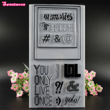 You Only Live Once Scrapbook Clear Stamp photo cards account rubber stamp Embossing Folder card Stamp(China)