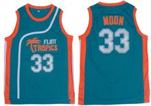 Green Throwback Jerseys Basketball Sleeveless Jackie Moon #33 Flint Tropics Semi Pro Movie Vest all stitched S-3XL Location USA