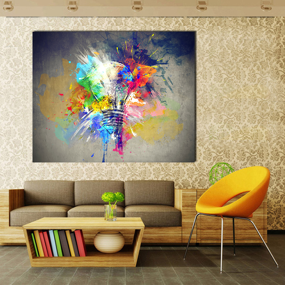 Jqhyart oil print canvas wall art decor pictures diferent kiss by