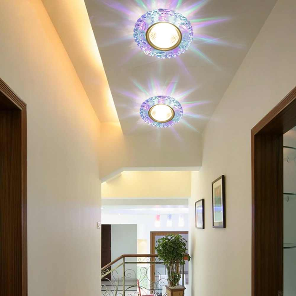 Modern led ceiling light 3w rgb porch lamp surface mount flush balcony corridors lighting fixture living
