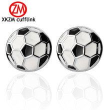 Formal Black and white football Cufflink for Mens Suits Buttons Geometric Wedding Cufflink French Grooms Shirt Brand Cuff Links