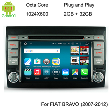 Octa Core CPU Android 6.0 2GB RAM Car DVD Head Unit For Fiat Bravo 2007 2008 2009 2010 2011 2012 2013 2014 GPS Radio Stereo BT