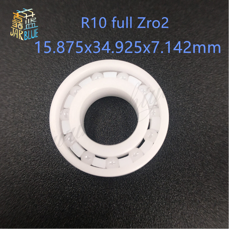 Free Shipping CE R10 ZrO2 FC  ABEC3  15.875x34.925x7.142  ZrO2 Full Ceramic Bearings  Full Complement<br>