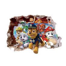 3D Paw Patrol Wall Sticker Puppy Patrol Pets Patrol Wall Sticker Home Decor for Living Room Children Room Wall Sticker