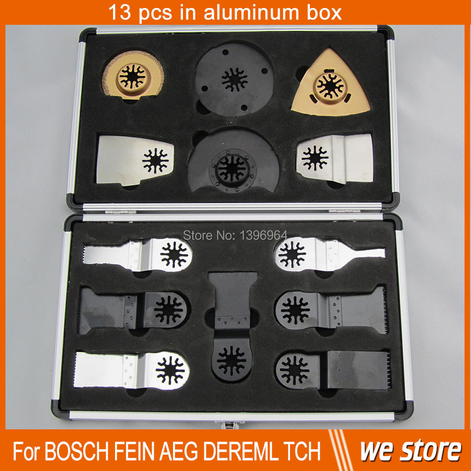 A set saw blades with Aluminum box for Fein multimaster,Dremel,TCH,Makita,and other Multifunction Oscillating Power Tool<br><br>Aliexpress