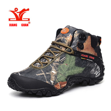 XiangGuan brand men and women outdoor Hiking shoes waterproof canvas sport trekking boots Anti-skid Wear Mountain Climbing Shoes