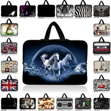 print 10 13 13.3 14 15 15.6 17 17.3 Inch Laptop sleeve Notebook Bag Case Handle BAG Laptop Bag for ipad macbook