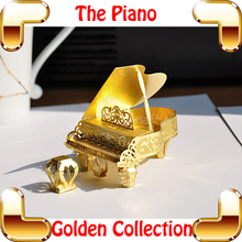 New Year Gift Grand Piano 3D Model Metal Music Instrument Puzzle Mini Piano Model Toy Alloy Decoration DIY Collection IQ Game(China)